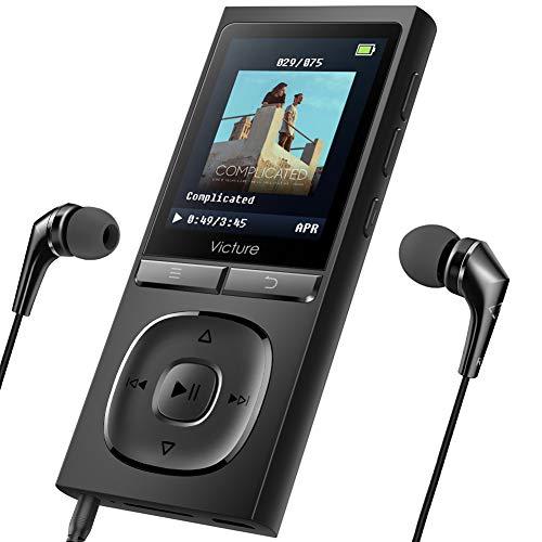 Victure MP3プレーヤー 最大100時間待機 軽量 HIFI高音質 8GB内蔵 128GB拡張可能イヤホン FMラジオ 録音M5