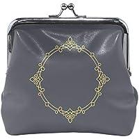 がま口 財布 口金 小銭入れ ポーチ 丸 ブルー 神秘 Jiemeil バッグ かわいい 高級レザー レディース プレゼント ほど良いサイズ