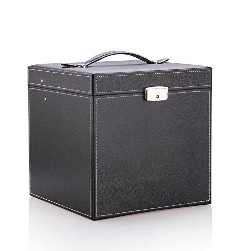 ローリング(Rowling)大容量 コスメBOXメイクボックス 化粧箱ジュエリーボックス 母の日ギフト祝日プレゼント ブラックHG055(BLACK)