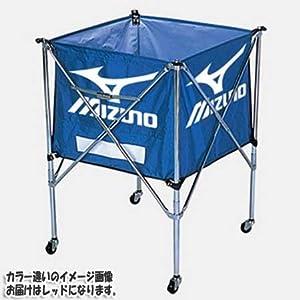 MIZUNO(ミズノ) 折りたたみ式 ボール収納カゴ (携帯用・ワンタッチ式・キャスター付) 9VA83 62:レッド