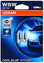 OSRAM 2825HCBI-02B Cool Blue Intense W5W Halogen, License Plate Position Light, 12 V Passenger Car, Double Bli