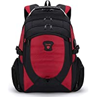 Tzowla Travel Laptop Backpack Anti-Theft Water Resistant Business Backpack TSA Lock & USB Charging Port TSA Friendly Computer Backpack Men Women College School Bag Fit 16 inch Laptops (RedBlack)