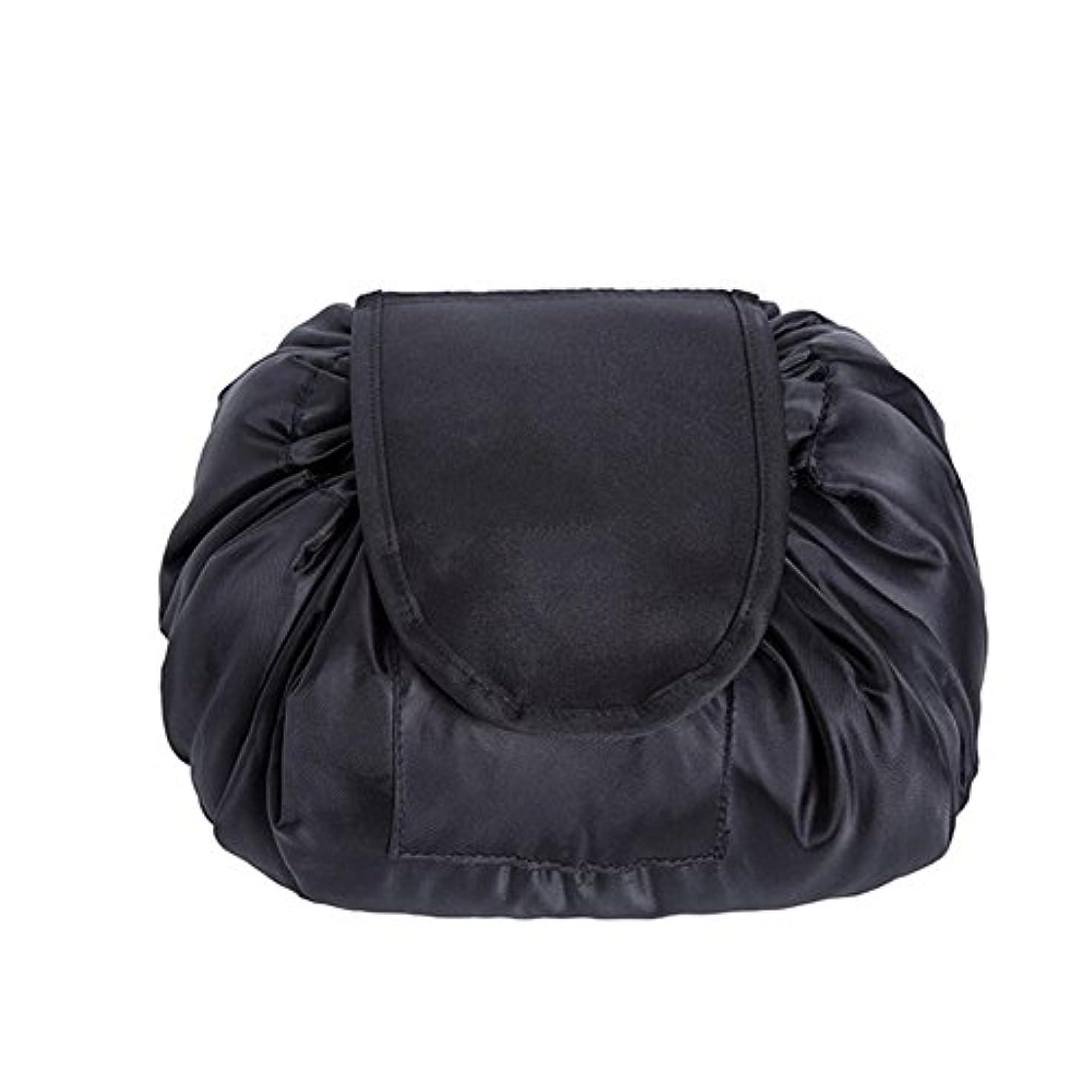 対立性的アンプSimonJp メイクポーチ 化粧ポーチ 化粧品収納 収納ポーチ 多機能 大容量 巾着袋 防水 携帯 軽量 旅行 便利 ブラック