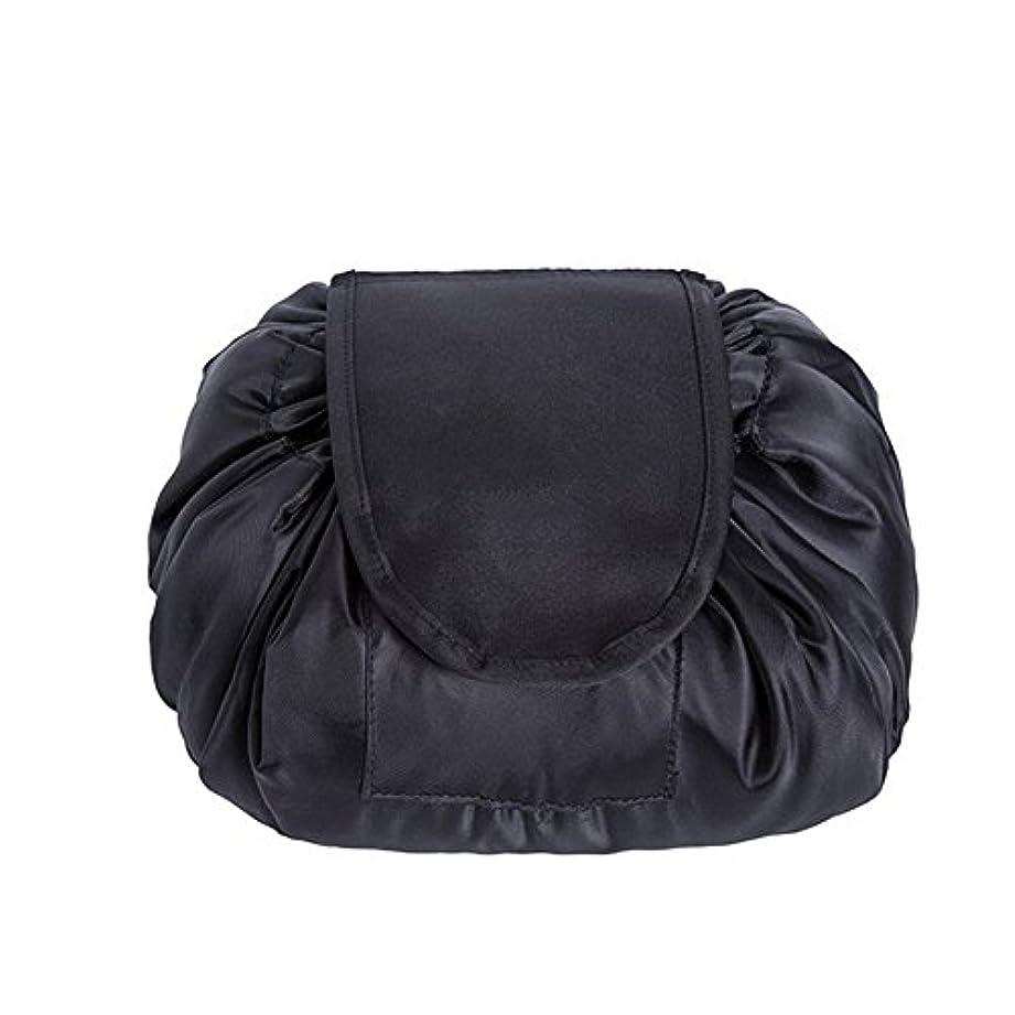 角度説得力のあるスタンドSimonJp メイクポーチ 化粧ポーチ 化粧品収納 収納ポーチ 多機能 大容量 巾着袋 防水 携帯 軽量 旅行 便利 ブラック