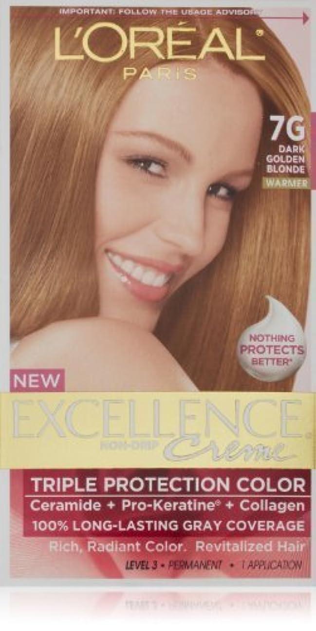 郡コンパクト中央Excellence Dark Golden Blonde by L'Oreal Paris Hair Color [並行輸入品]