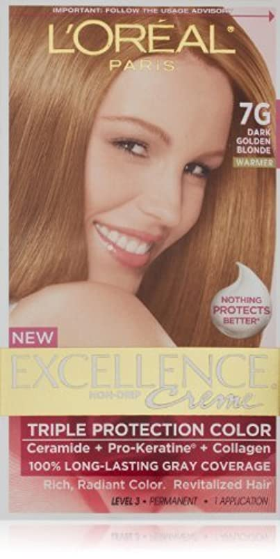 過度の浸漬ガラスExcellence Dark Golden Blonde by L'Oreal Paris Hair Color [並行輸入品]