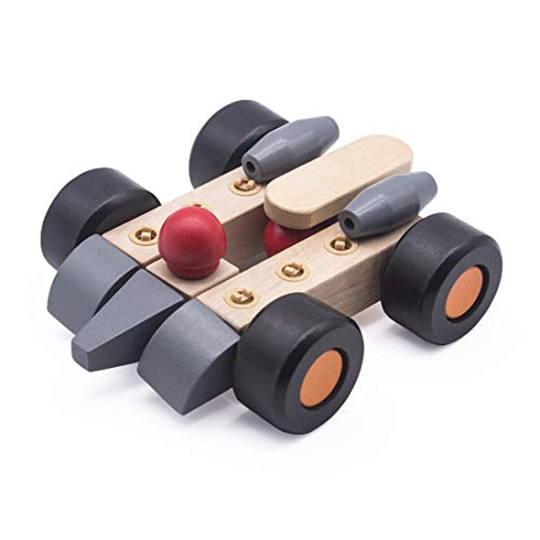 UniM バックル 車 木製パズルセット DIY 組み立て 車 玩具 ハンドメイド 木製クラフトおもちゃセット - 8/22ピース/セット 子供用 3歳以上 22 pieces UniM-MZPJC