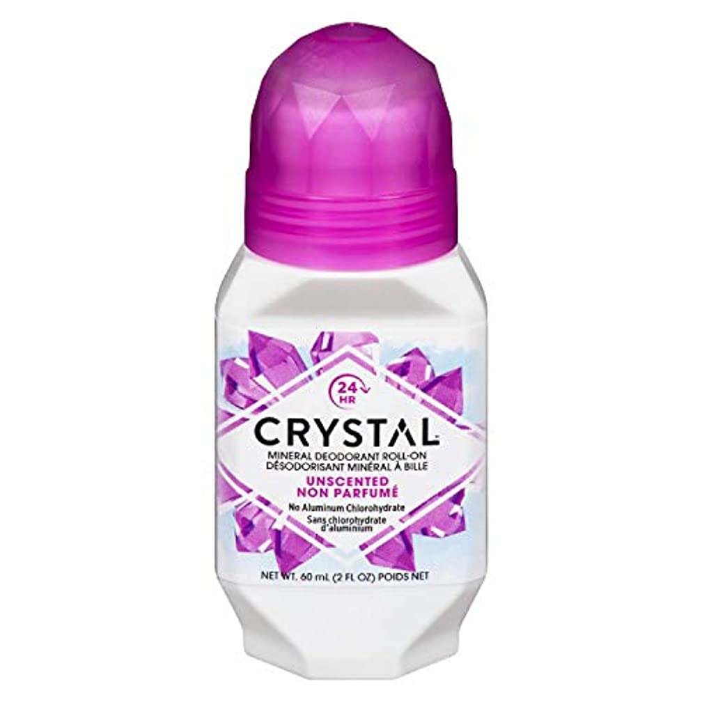 本質的ではない感度置くためにパックCrystal ミネラルボディデオドラントロールオン、無香料2.25オンス