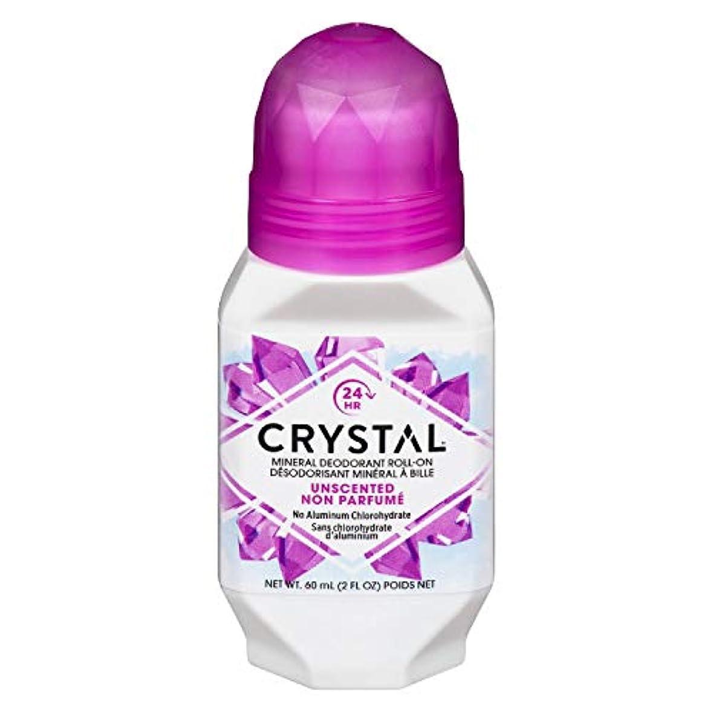 名義で確執病Crystal ミネラルボディデオドラントロールオン、無香料2.25オンス