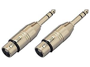 【2個セット】KC 変換コネクター CA311 XLR(F)/St-Phone(M) マイクからステレオ標準プラグへ変換