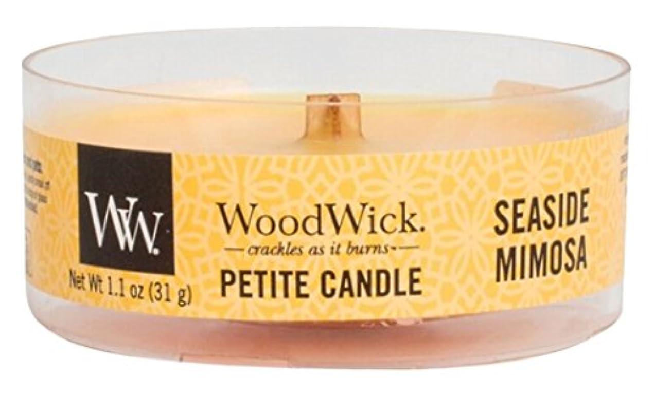 高価な磁気保有者Wood Wick ウッドウィック プチキャンドル ミモザ