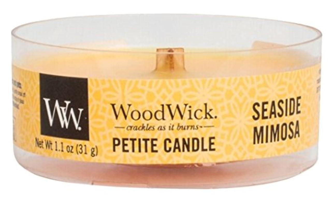 ずんぐりした残基混合したWood Wick ウッドウィック プチキャンドル ミモザ