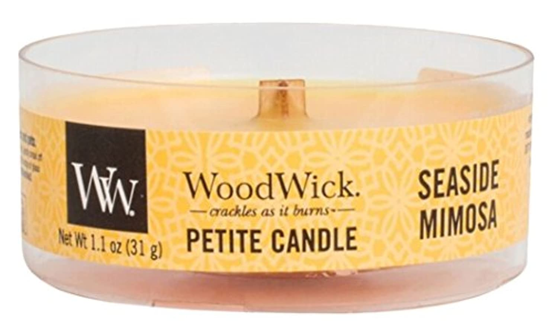玉ニンニク環境に優しいWood Wick ウッドウィック プチキャンドル ミモザ