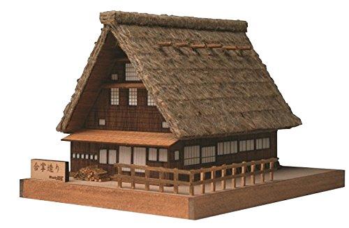 【世界遺産】組立簡単 合掌造り 木製模型
