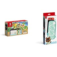 Nintendo Switch あつまれ どうぶつの森セット + Nintendo Switchキャリングケース あつまれ どうぶつの森エディション ~たぬきアロハ柄~(畫面保護シート付き)