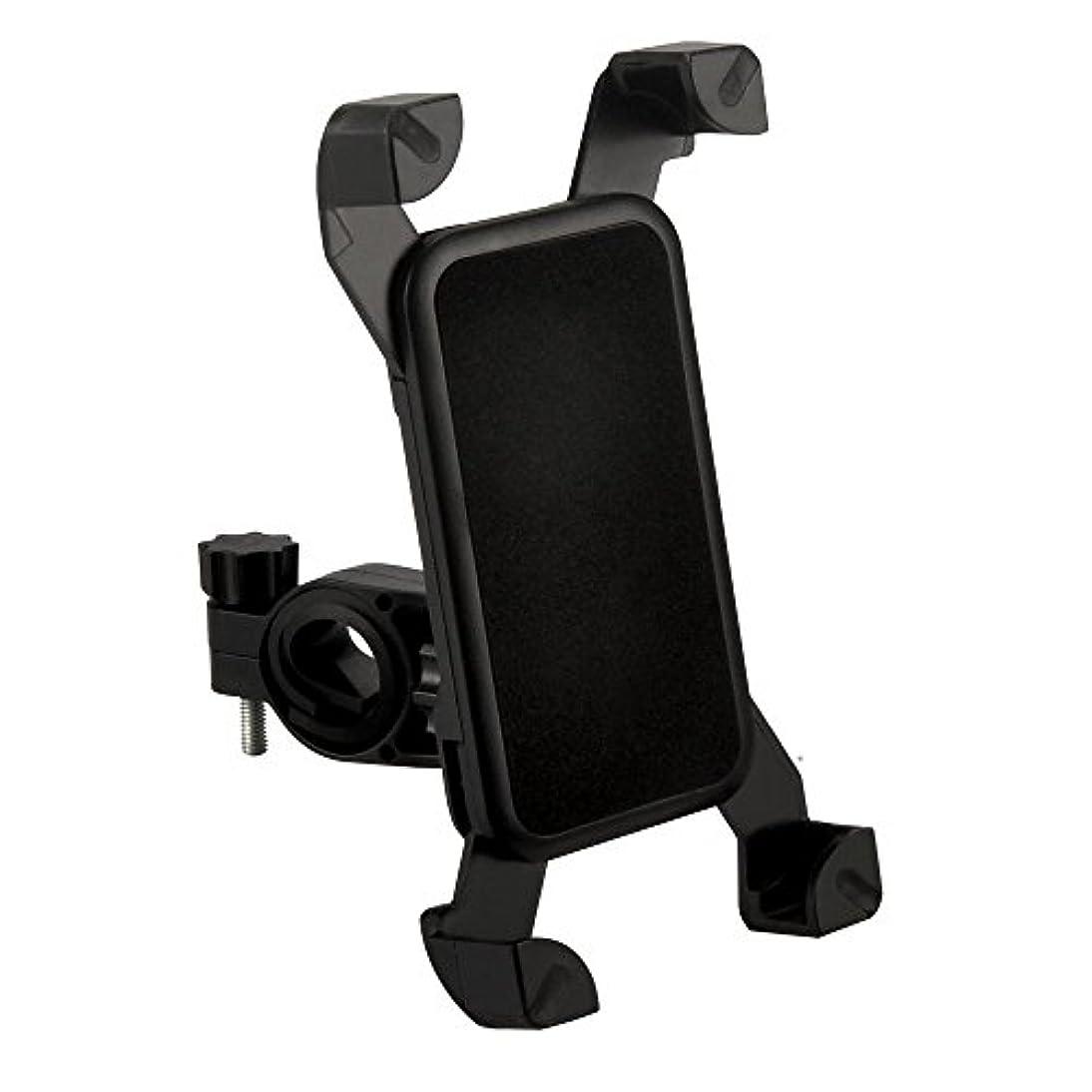 ネコスカーフホットハンドル取付用スマートフォンホルダー 自転車/バイク用 着脱簡単 外れにくい四隅ホールド式 多サイズに対応 FMTTORE001