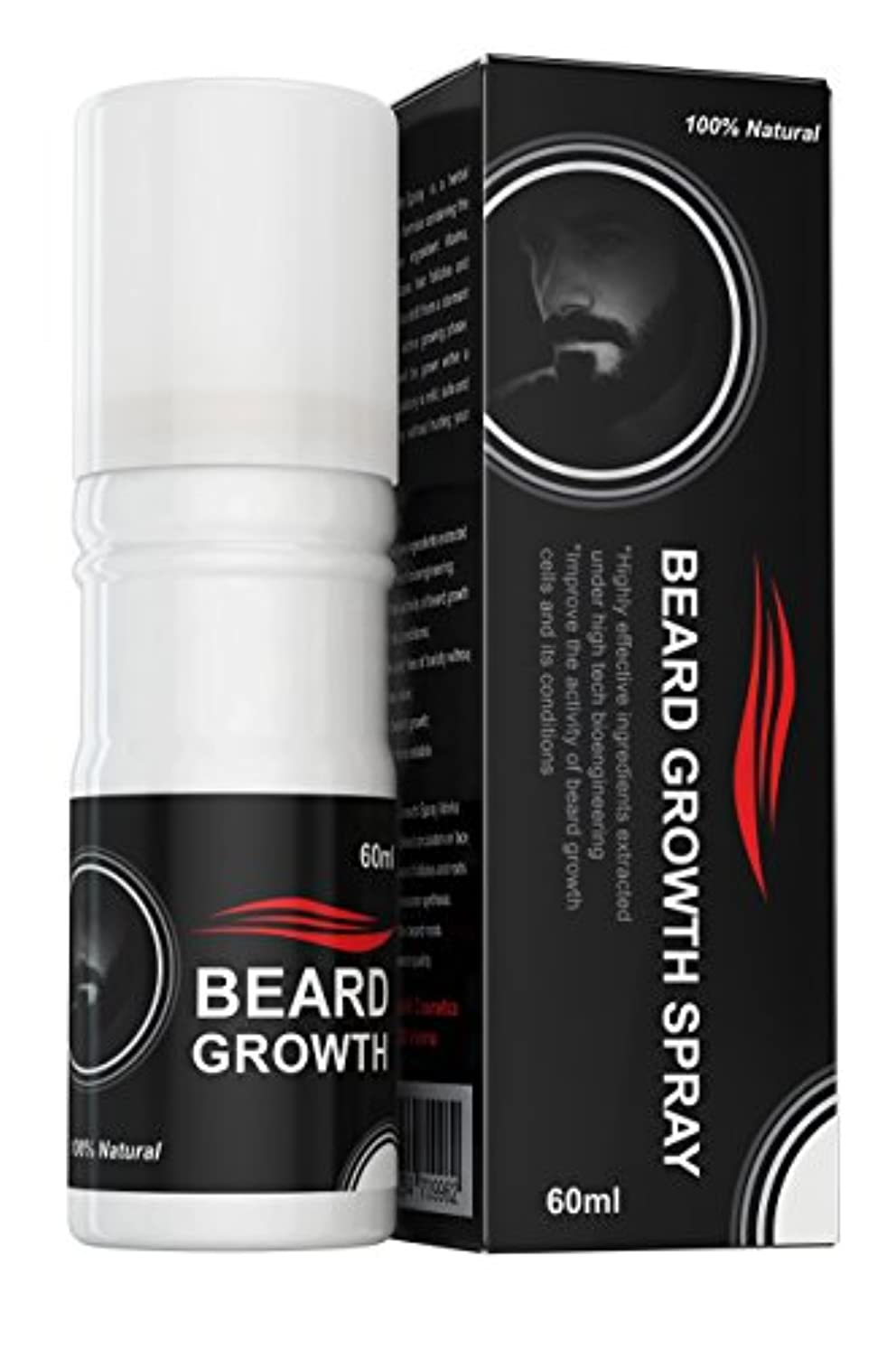 Beard Growth Spray®(ベアードグロースプレー®)- ヒゲの育毛剤 - 100%天然成分使用