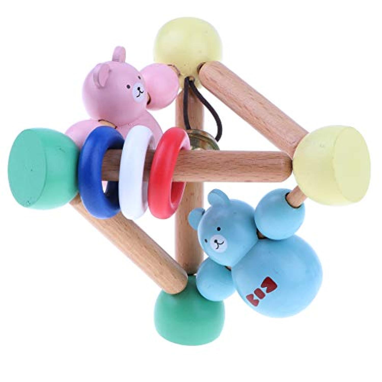 B Baosity 木製 ハンドベル ラトル 教育用 ベビー モンテッソーリ 初期開発玩具
