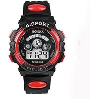 LookatooL Waterproof Children Boy Digital LED Quartz Alarm Date Sports Wrist Watch
