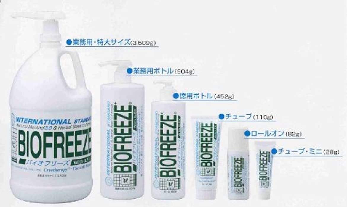 人差し指資本主義活性化するバイオフリーズ(BIOFREEZE) 904g - ボディ用、業務用ボトル!