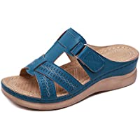 Sincrystal Women Premium Orthopedic Open Toe Sandals Vintage Anti-Slip Breathable for Summer