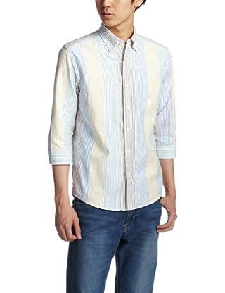 Multi Stripe 7/10 Sleeve Buttondown Shirt 3216-149-0889: 2