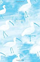 Notes: Blue Ibis Birds Paperback Journal / Diary / Notebook with 100 Lined, Cream-colored Pages for Writing Notes and Hand-Painted Design Elements by The Prime Floridian (Prime Floridian Notebooks)