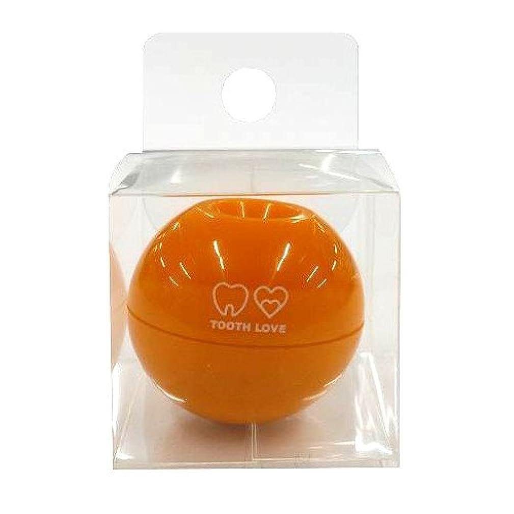 驚き最小故意のTOOTH LOVE BALL ホルダー (歯間ブラシホルダー) オレンジ