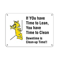 Clean-Up Time!!! Time to Clean Downtime Safety Slogans ティンサイン ポスター ン サイン プレート ブリキ看板 ホーム バーために