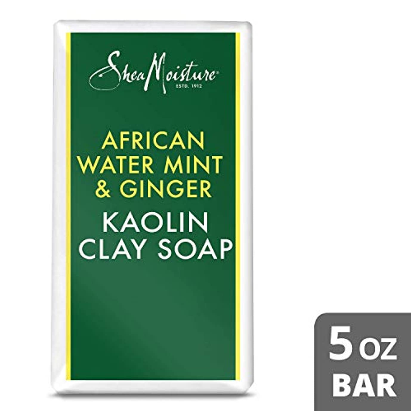 恥ずかしさ叙情的なログAfrican Water Mint and Ginger Kaolin Clay Soap