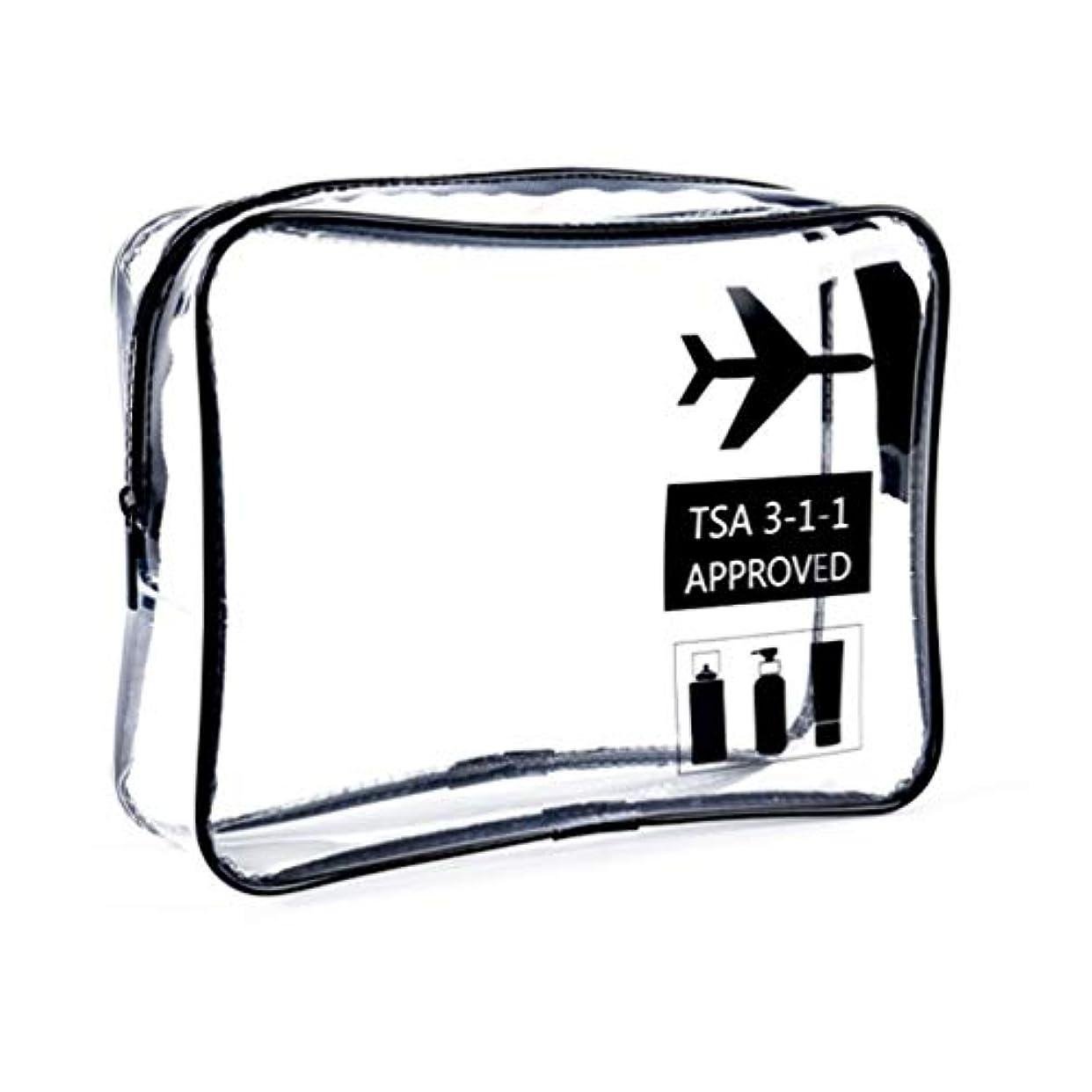 ホバー被害者翻訳明確な化粧袋、ジッパー旅行貯蔵袋の化粧品の箱が付いている携帯用防水化粧品袋