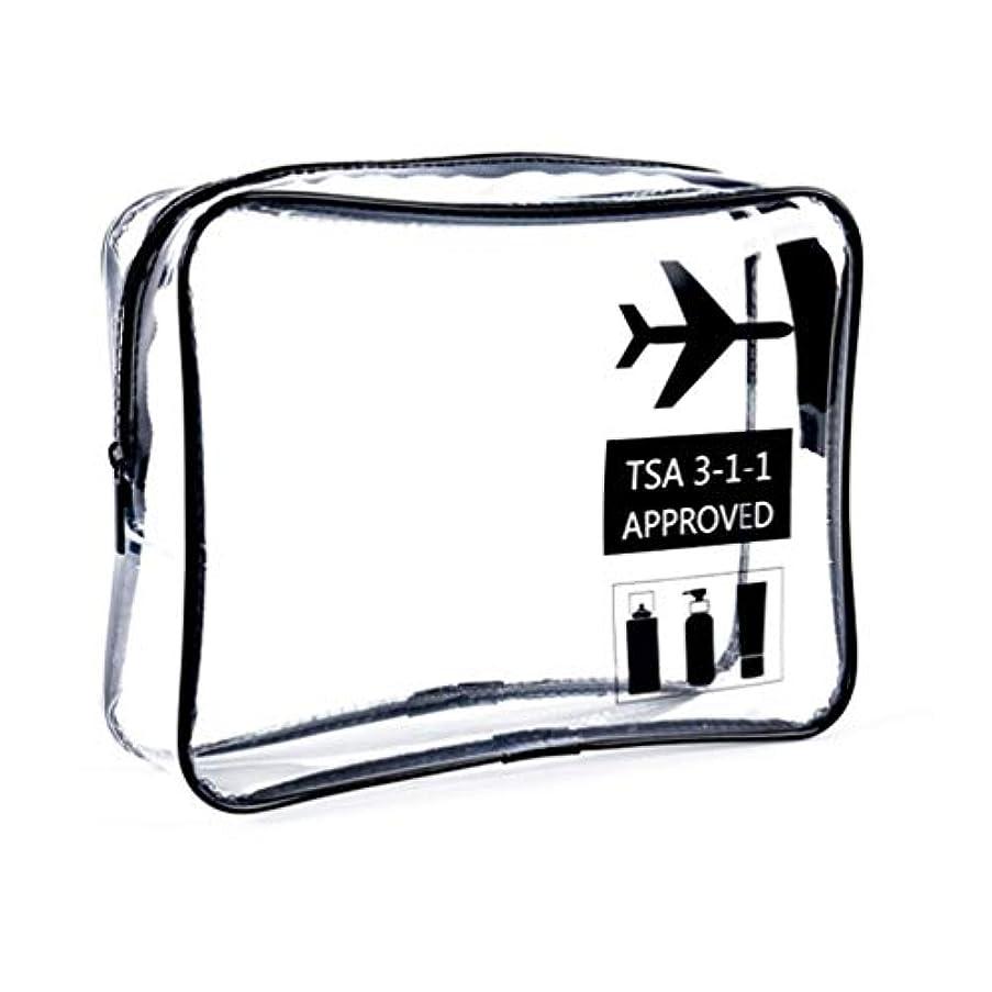 国内の世論調査シェトランド諸島明確な化粧袋、ジッパー旅行貯蔵袋の化粧品の箱が付いている携帯用防水化粧品袋