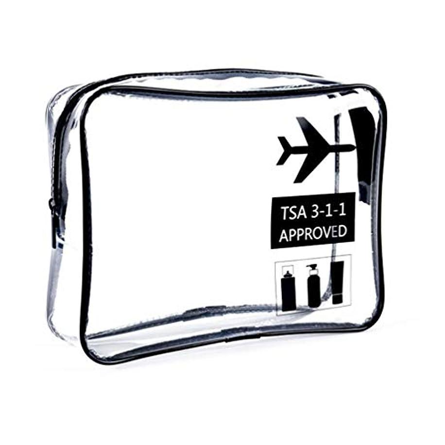 売上高物質色明確な化粧袋、ジッパー旅行貯蔵袋の化粧品の箱が付いている携帯用防水化粧品袋