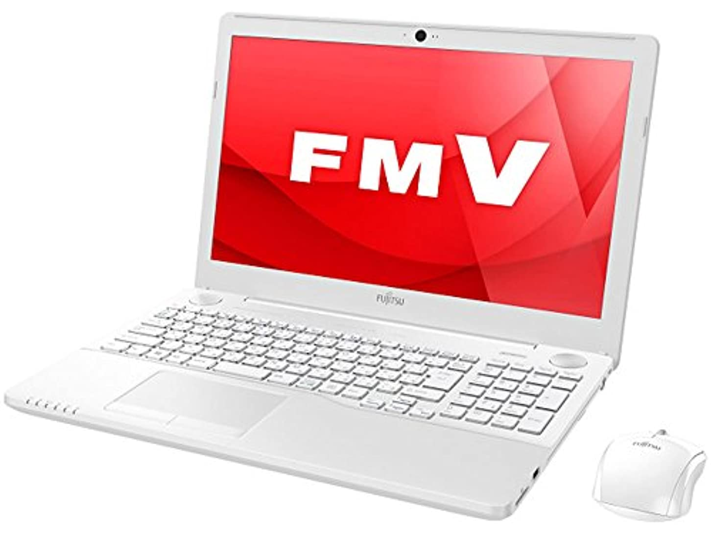 法王典型的な希少性富士通 15.6型ワイド ノートパソコンFMV LIFEBOOK AH53/A3プレミアムホワイト(Office Home&Business Premium プラス Office 365 サービス) FMVA53A3W