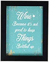 SpotColorArt Wine Because It's Not Good to Keep Things Handcrafted Canvas Print [並行輸入品]