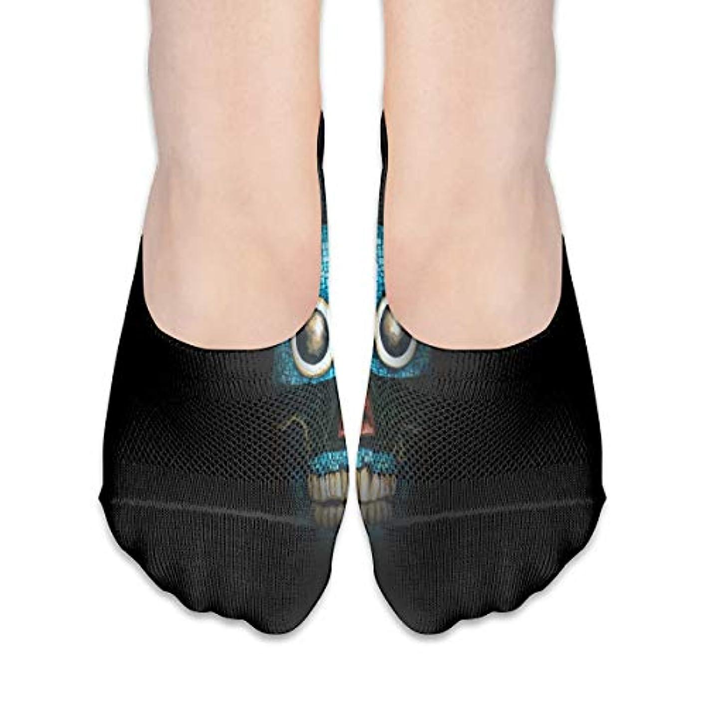 阻害するアウターもつれ女性カジュアルファニースカル(2)ローカットソックス滑り止めアスレチックソックス