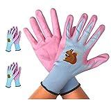 ガーデニング手袋 ニトリル手袋 園芸作業用手袋 2双入 (L)