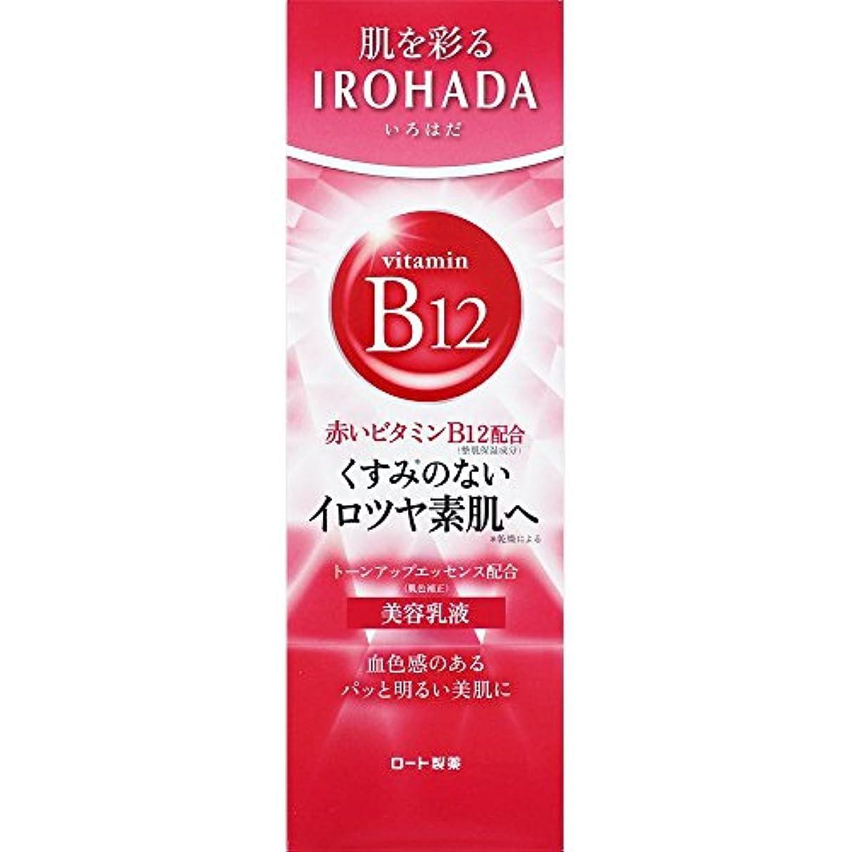 水没ベッドを作る石のロート製薬 いろはだ (IROHADA) 赤いビタミンB12×スクワラン配合 美容乳液 110g