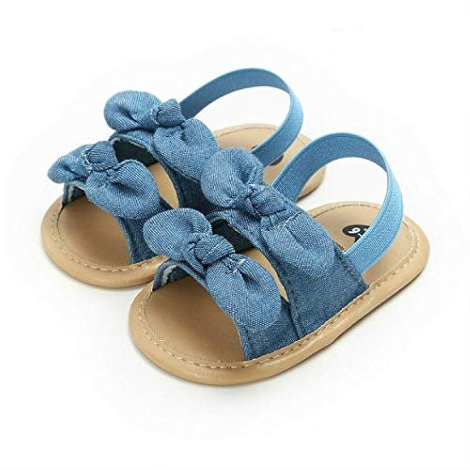 道を作るステートメント寄生虫MEI1JIA 赤ちゃん幼児キッドガールソフトソールベビーサマープリンセスサンダル靴、赤ちゃんの年齢:9-12ヶ月(青い蝶) (Color : Blue Butterfly)