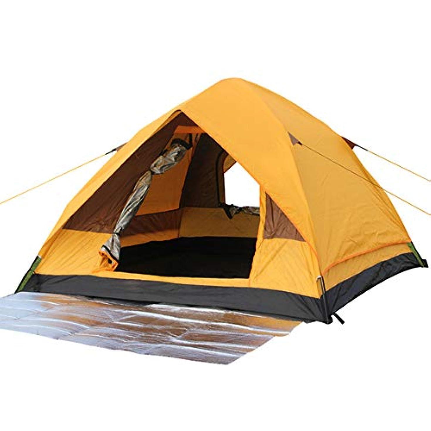 ダーツ硬さ舌な2-4人家族のテント防雨防蚊/自動テント、湿気パッドを送る/ハイキング、キャンプ、その他の野外活動に適して