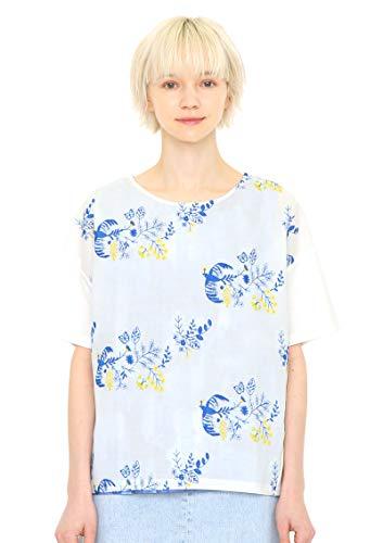 (グラニフ) graniph 5分袖 刺繍 Tシャツ ラウンドネック (テイルオブザバード) (マルチ) レディース Lady(F) (g14)
