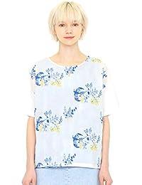 (グラニフ) graniph 5分袖 刺繍 Tシャツ ラウンドネック (テイルオブザバード) (マルチ) レディース (g14)