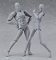 figma archetype next:(she gray color ver.) & (He - Gray color ver.) ノンスケール ABS&PVC製 塗装済み可動フィギュア