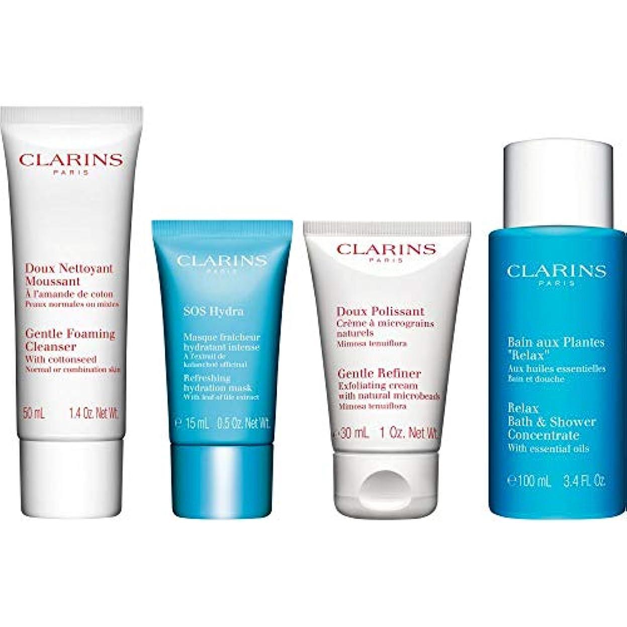 台風第二に五月[Clarins] クラランス水和コレクションギフトセット - Clarins The Hydrating Collection Gift Set [並行輸入品]