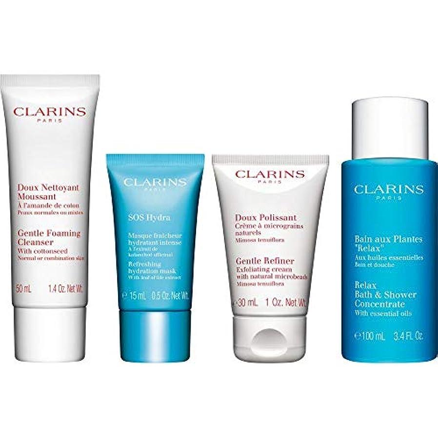 重力舗装する壮大な[Clarins] クラランス水和コレクションギフトセット - Clarins The Hydrating Collection Gift Set [並行輸入品]