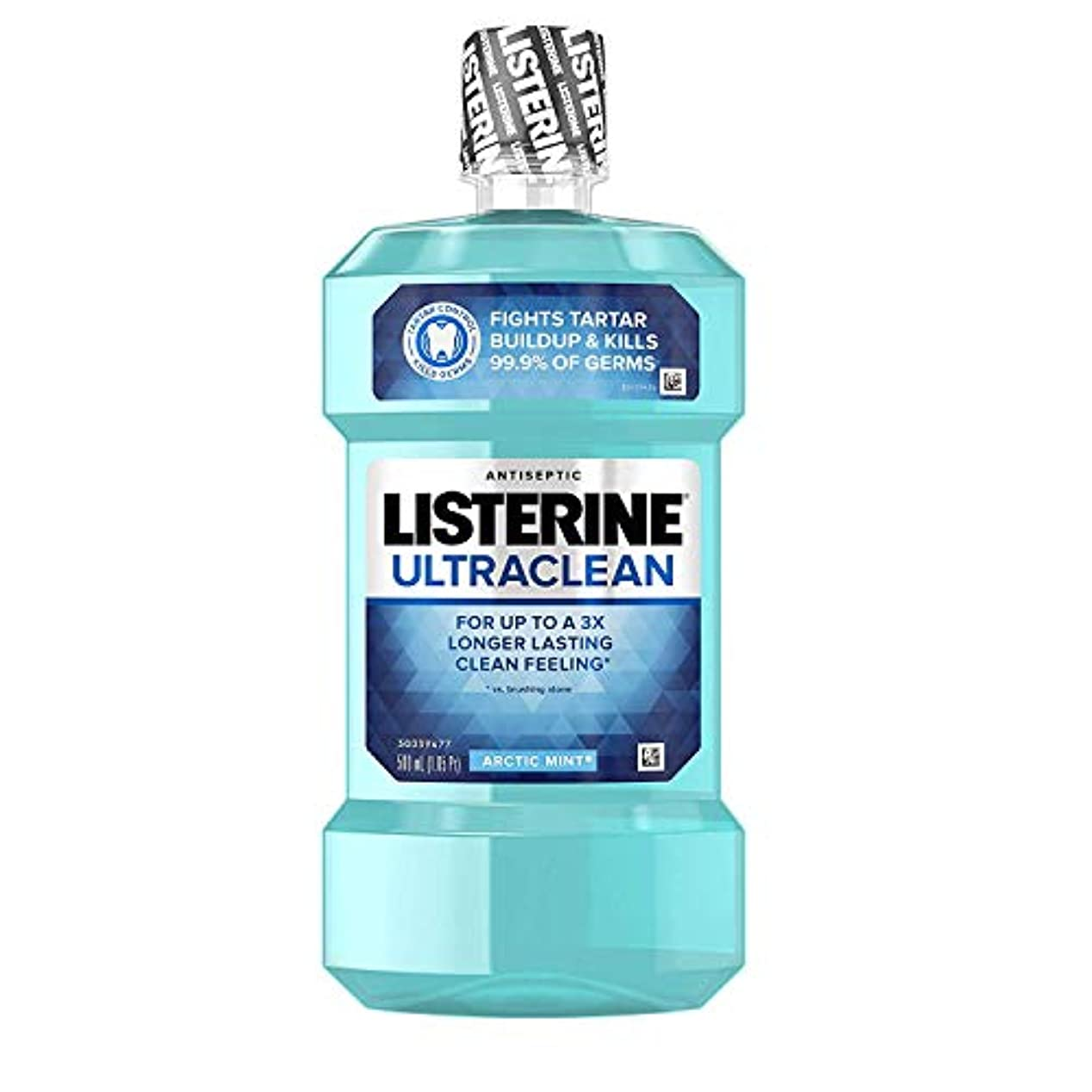 バンドル先住民ふざけたListerine ウルトラクリーン消毒うがい薬北極ミント - 16.9オズ、6パック