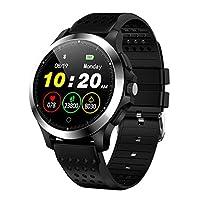 人間の特徴をもつiOSのためのW8スマートな腕時計のカラースクリーンECGそしてPPG IP67のスポーツのストップウォッチ シリコーン材料