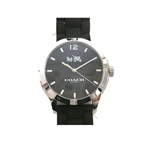 コーチ COACH 時計 腕時計 レディース 『マディ シグネチャーC ステンレス ウォッチ シリコン ラバー ベルト 腕時計 アウトレット』W6033-BLK