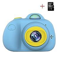 子供用カメラ、U-LIGHT子供用デジタルカメラ、32G SDカード、ミニデジタルカメラ/カムコーダー、2.0型カラースクリーン、日本語取扱説明書(青)