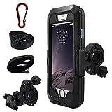 iPhone 専用 防水マウントキットiphone マルチ機種 ハードケース バイク 自転車 アウトドア 360度自由に回転 (iPhone Xs Max(6.5インチ))